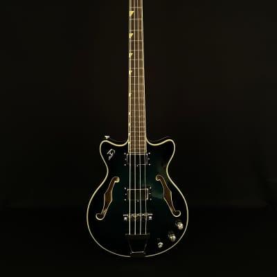 Duesenberg Dropkick Murphys Signature Semi-Hollow Bass Catalina Green Burst 2019 for sale