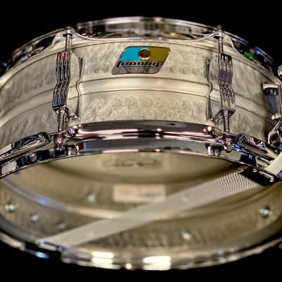 "Ludwig LM404K Acrolite Hammered 5x14"" Aluminum Snare Drum"