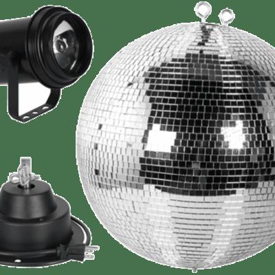 American DJ M600L 16-Inch Mirror Ball Package