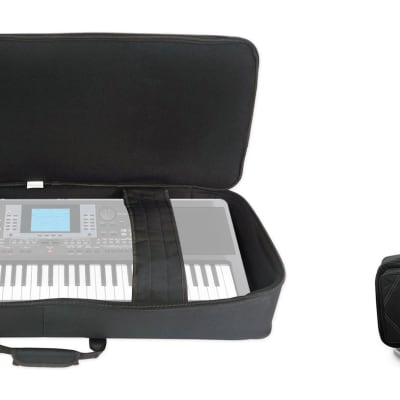 Rockville BEST BAG 49 Padded Rigid Keyboard Gig Bag Case for Korg Micro ARRANGER