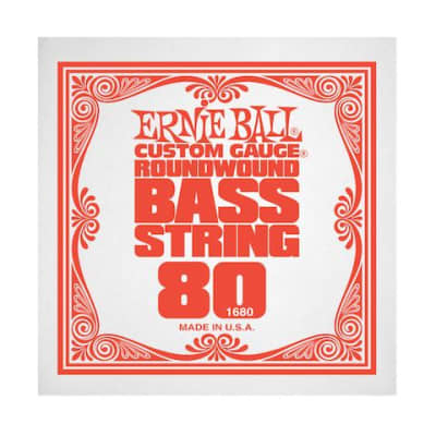 Ernie Ball 1680 80 Roundwound Bass Single String