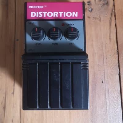 Rocktek Distortion Pedal 80's Black Plastic for sale