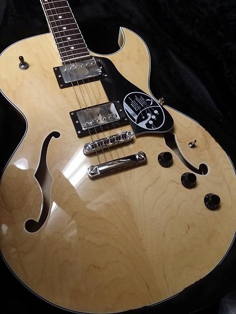 dean colt gn gloss natural semi hollow body electric guitar reverb. Black Bedroom Furniture Sets. Home Design Ideas