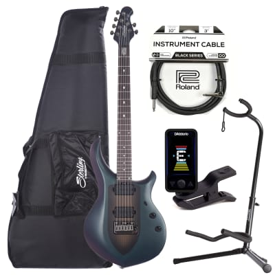 Sterling by Music Man Majesty Arctic Dream w/Gig Bag w/Guitar Stand, Tuner and 10' Cable Bundle for sale