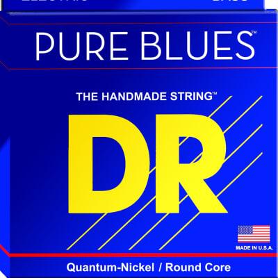 DR Pure Blues Quantum-Nickel/Round Core Bass Strings 45-130  PB5-130 45 65 85 105 130