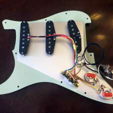 Pre-Wired Stratocaster Pickup Upgrade - Alnico 5 Pickups, CTS Pots, Oak Grigsby Switch, Sprague Caps