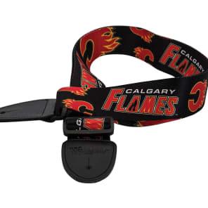 Woodrow Calgary Flames Guitar Strap