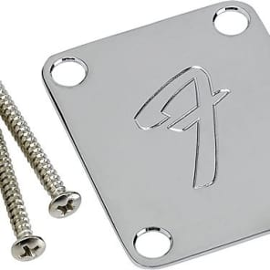 Fender 099-1448-100 Vintage-Style 4-Bolt Neck Plate with F Logo