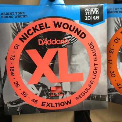D'Addario EXL110W Nickel Wound Electric Guitar Strings Regular Light Gauge with Wound 3rd