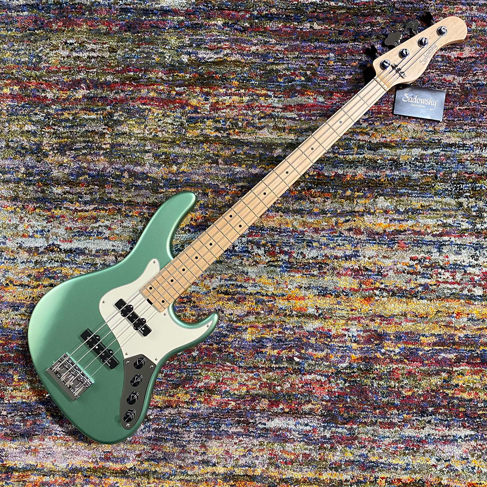 Sadowsky MetroLine 24 Fret Vintage J-Bass, 4 String, Sage Green Metallic Satin, Ash, Germany 2020