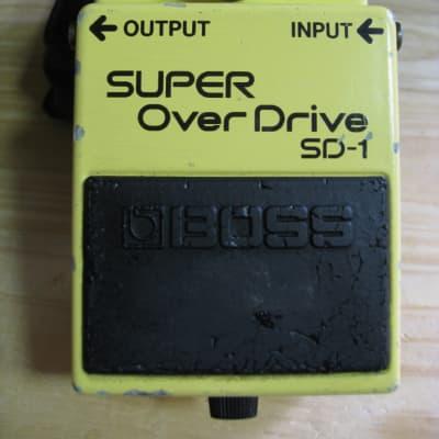 Boss SD-1 Super Overdrive 1983  Made In Japan Black Label JRC 4558