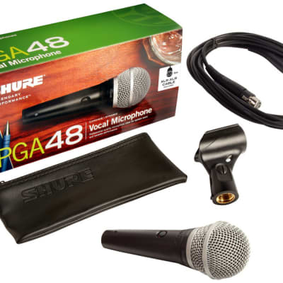 Shure PGA48-XLR PG ALTA Cardioid Dynamic Vocal Microphone with 15 ft XLR Cable
