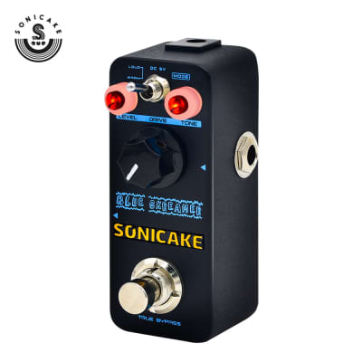SONICAKE MiniLane Blue Skreamer Vintage Dumble-Style Overdrive Guitar Effects Pedal