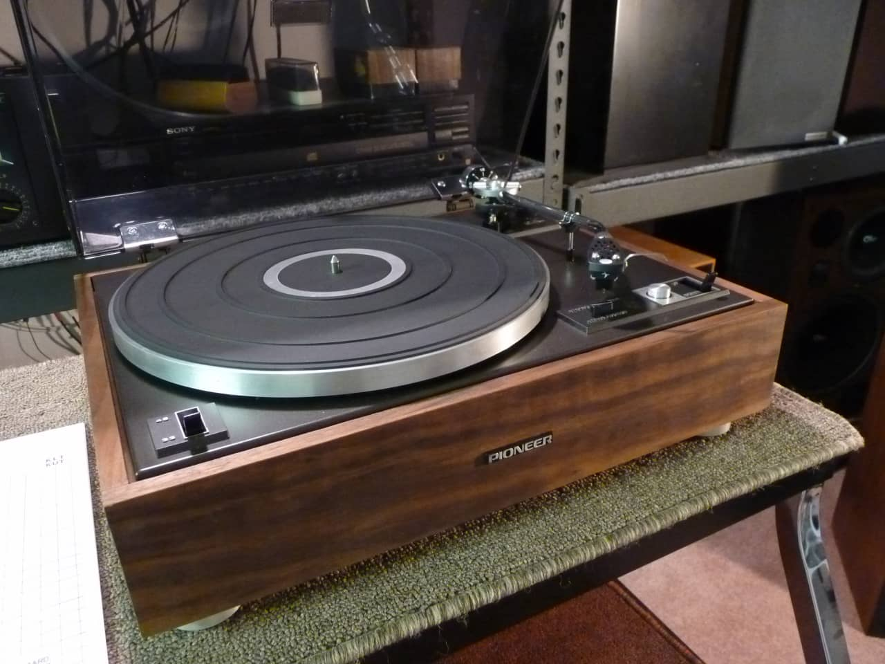 pioneer pl 15d ii restored 1974 vintage turntable real reverb. Black Bedroom Furniture Sets. Home Design Ideas