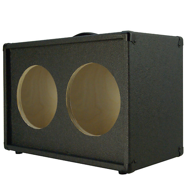 2x10 Guitar speaker empty cabinet Charcoal black tolex | Reverb
