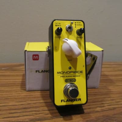 Monoprice Flanger Pedal 2018 Yellow,Open Box for sale