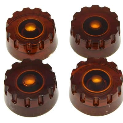 Knurled Knobs Amber 4 Pieces 6mm Gibson Epiphone or Other Free 2 Day Shipping