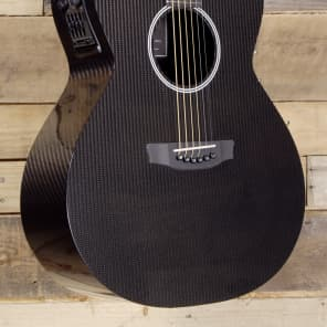 RainSong H-WS1000-N2 Hybrid Series Deep Body Cutaway Black