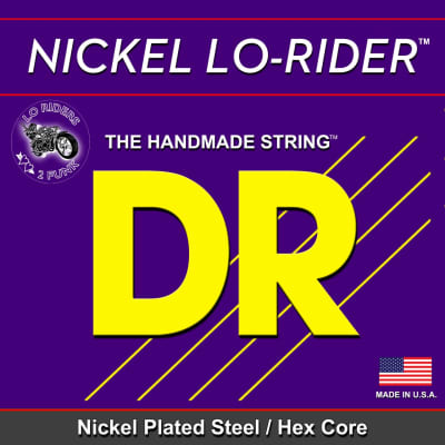 DR Nickel Lo-Rider 45-105 Nickel Plated Steel/Hex Core Bass Strings, 45 65 85 105