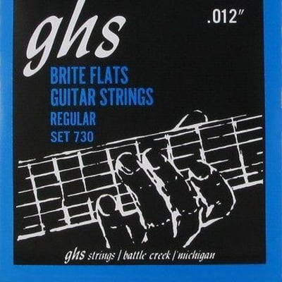 GHS 730 Brite Flats Electric Guitar Strings 12-54 set 730