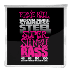 Ernie Ball Super Slinky Stainless Steel Electric Bass Strings 45-100 image