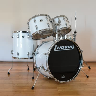 Ludwig Rocker Drum Set with Black/White Badges 1980s