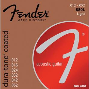 Fender 880L Dura-Tone Coated Acoustic Guitar Strings - LIGHT 12-52 for sale