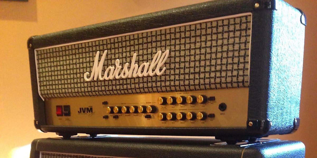 Marshall jvm205h 50 watt 2 channel tube guitar head reverb for Motor city guitar waterford