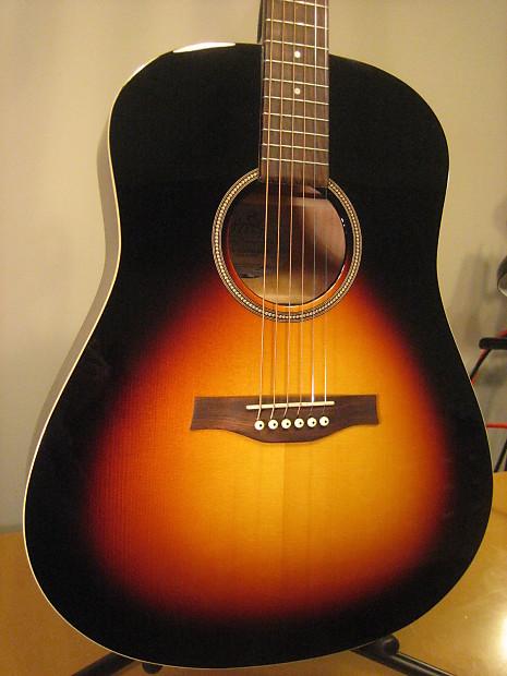seagull s6 spruce sunburst gt a-e guitare acoustique