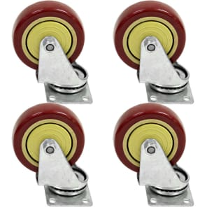 "Seismic Audio Non-Locking 4"" Swivel Casters (4-Pack)"