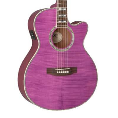 ESP LTD X-Tone Acoustic See Thru Magenta - RRP: $499 - 50% OFF! for sale