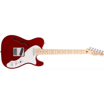 Fender Deluxe Telecaster Thinline Candy Apple Red, Maple for sale