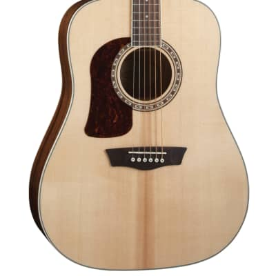 Washburn Heritage D10S Left-Handed Solid Sitka / Mahogany Lefty Dreadnought Natural for sale