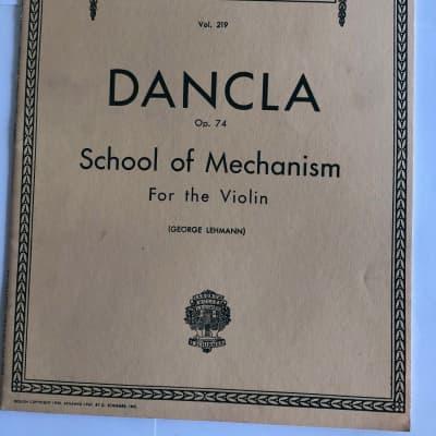 Dancla Op. 74 Vol. 219 School of Mechanism for the Violin Sheet Music Song Book