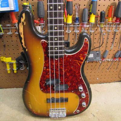 Fender Precision 1973 Sunburst Hot Rod for sale