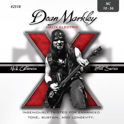 Dean Markley 2518 Helix Nick Catanese Electric Guitar Strings NC 10-56