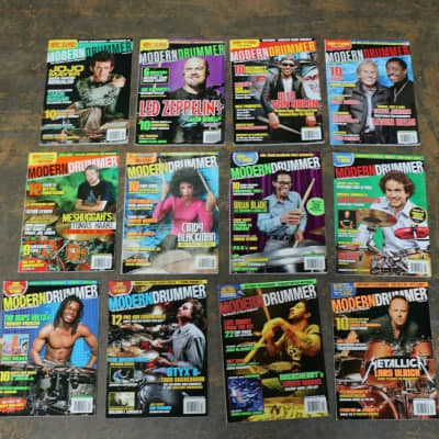 """""""Modern Drummer Magazine"""" Complete 2008 Magazine Collection"""