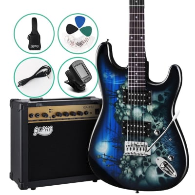ALPHA SKULL Electric Guitar and 20w Amp Pack with Bag for sale
