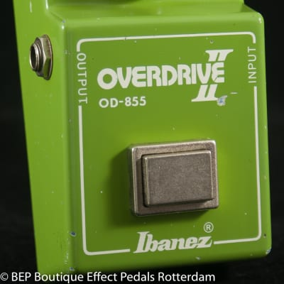 "Ibanez OD-855 Overdrive II 1981 s/n 154250 Japan with JRC4558D op amp, ""R"" Logo"