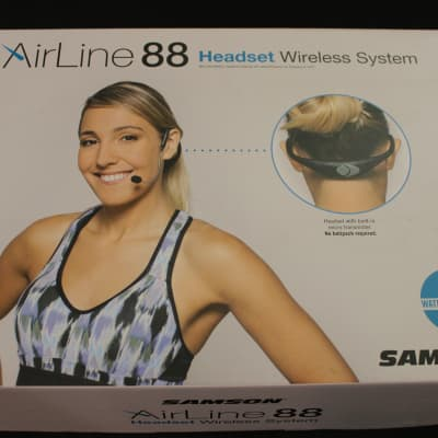 Samson AirLine 88 Wireless Headset System (K Band) with Unidirectional Headset mic (CR88/AH8/UCM10)
