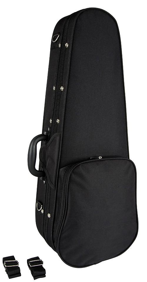 Lanikai QM-BKCET Quilted Maple Black Cutaway Electric Tenor Ukulele w/ Gig Bag