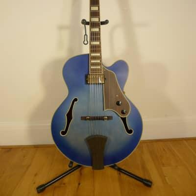 Ibanez Artcore Expressionist AFJ91 JLF  Jet Blue Burst Flat and Hardcase for sale