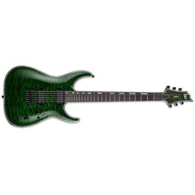ESP LTD H-1000 Horizon Electric Guitar QM See Thru Green w/ Seymour Duncans - LH-1001QMSTG for sale