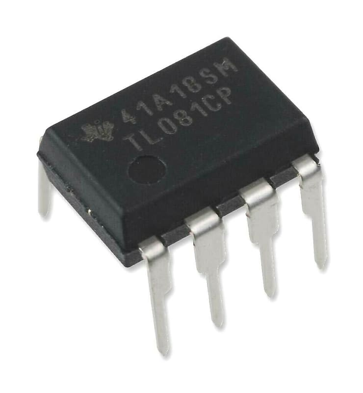 Texas Instruments TL081CP High Slew Rate JFET-Input Operational Amplifier  Op-Amp IC (Pack of 1)