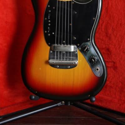 Fender Mustang USA All Original Vintage 1977 Sunburst Electric Guitar for sale