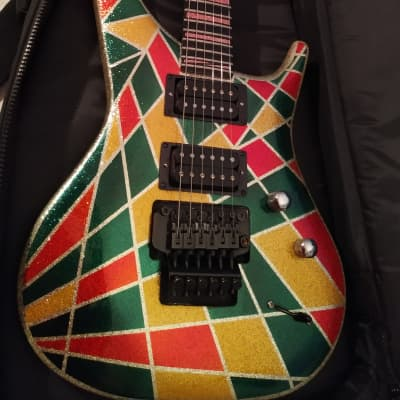 Manne Taos1990' hi-end guitars  made in Italy very crazy finish Harlequin for sale