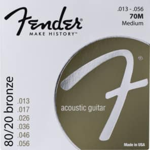 Fender 80/20 Bronze Acoustic Strings - Medium .013 - .056 for sale