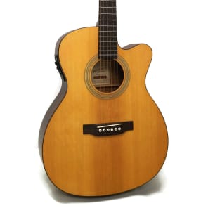 Recording King ROM-06-CFE4 06 Series Solid Top OM Stage Guitar with Fishman Presys Electronics