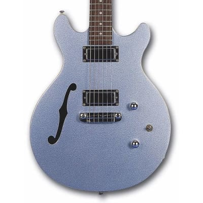 Daisy Rock DR6302 Stardust Retro-H Semi Hollow Electric Guitar Ice Blue Sparkle for sale