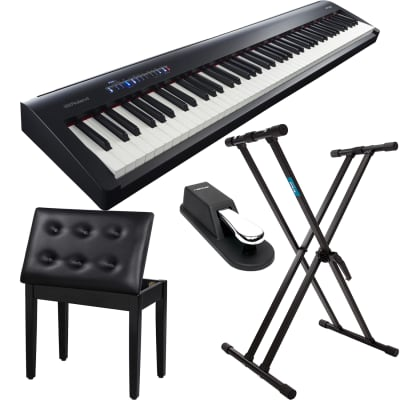 ROLAND FP-30 DIGITAL PIANO, Keyboard Stand, SONGMICS Piano Bench, Sustain Pedal Bundle